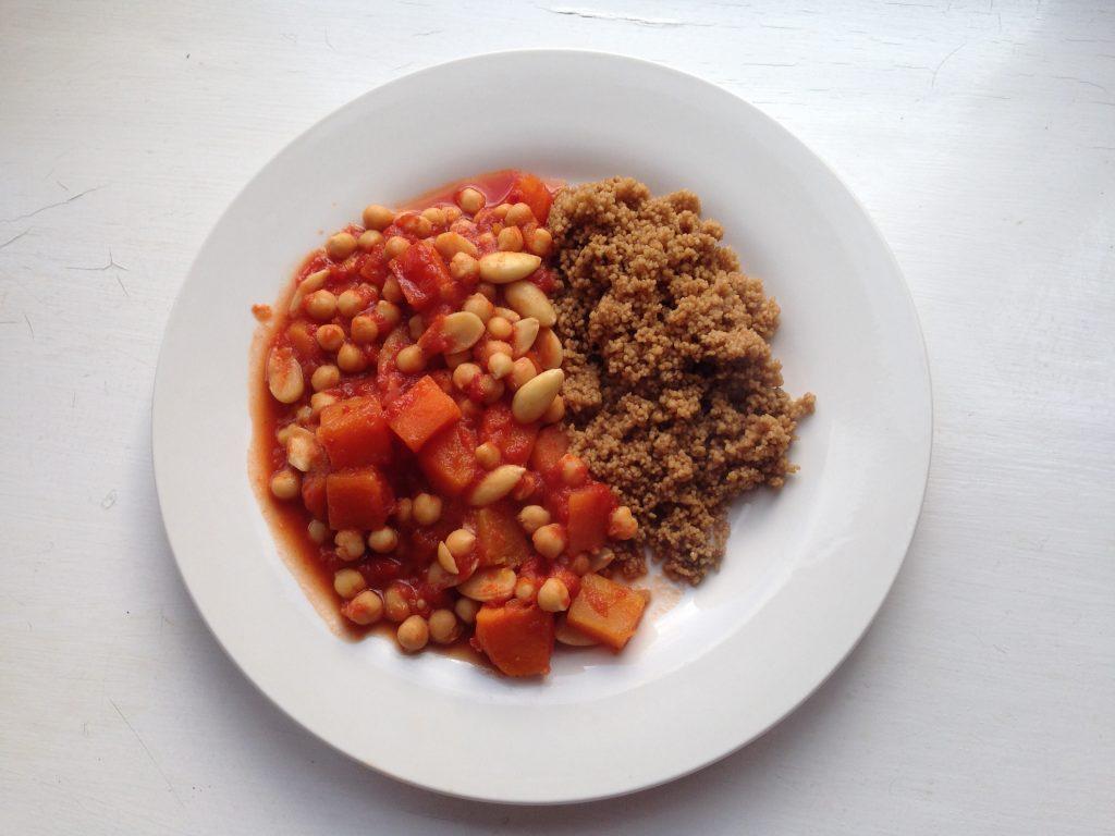 Zeleninový tažín s dýní a batáty