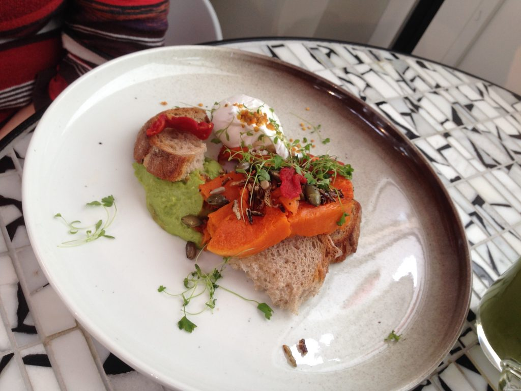 Vegetariánská snídaně v Redroaster